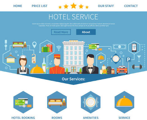 Hotel service page design packages