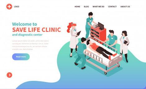 hospital website design packages